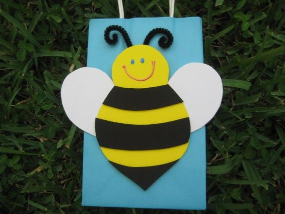 Bumble Bee Birthday Party Favor Bag By Christinescritters On Etsy 250