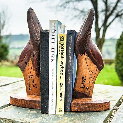 Vintage Cobbler's Wooden Shoe Last Bookends