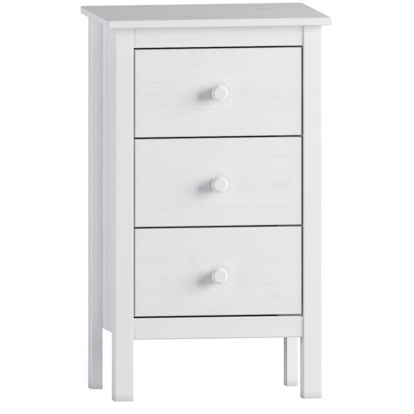 Albrecht Extra Tall 3 Drawer Nightstand In 2020 3 Drawer Nightstand Drawer Nightstand Nightstand