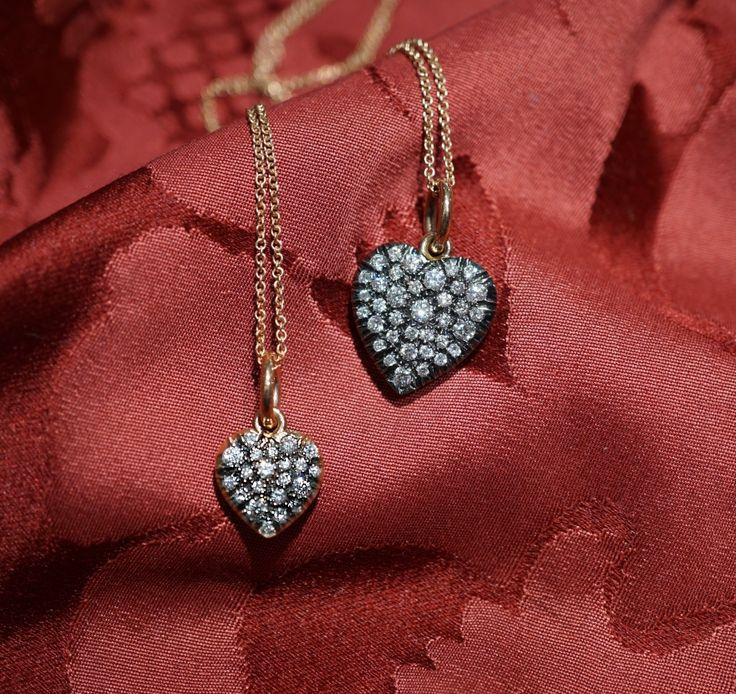 Cuori pendenti in oro e diamanti - Gioielleria Dogale Venezia - #cuori #cuore #hearts