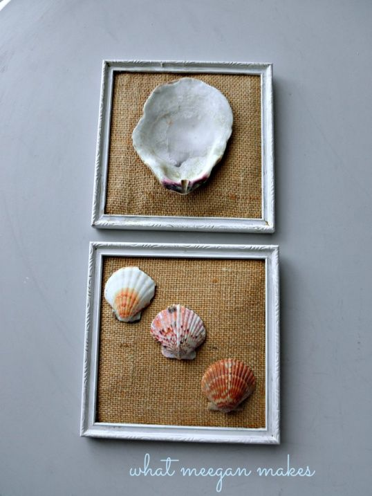 DIY Shell Art.  If thats too big of a gift with the sign, save it for a birthday or something, or next Christmas —@Mona Ascha Kelly