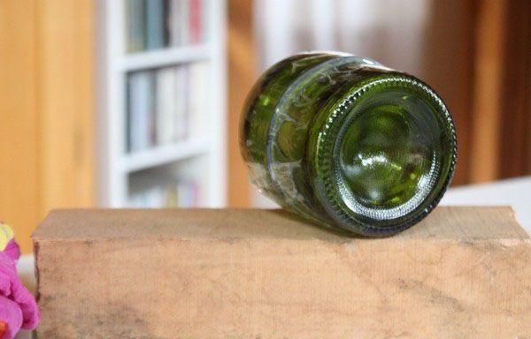 Hacer pared con botellas de cristal recicladas