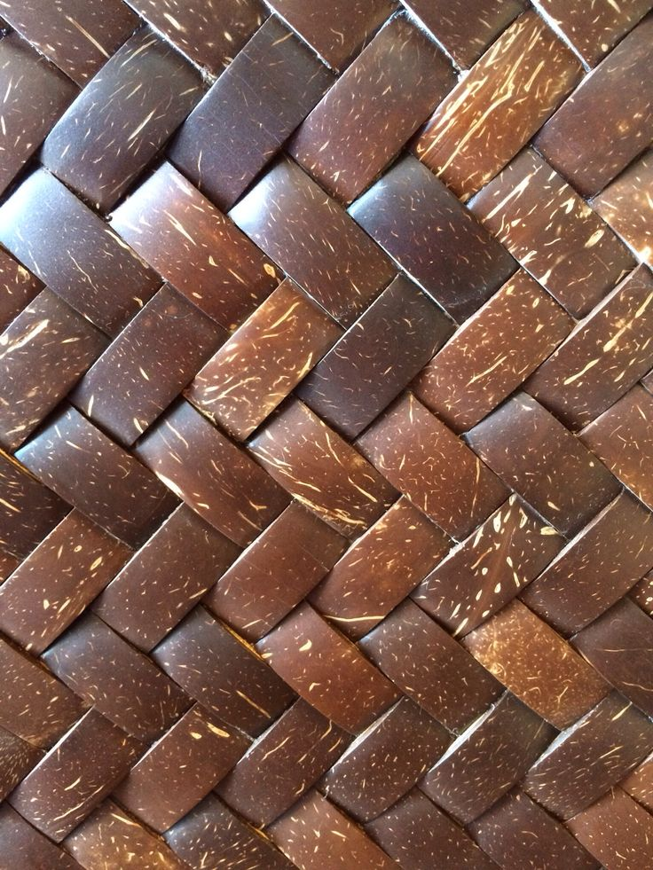 Woven coconut tiles, handmade by Dsign.