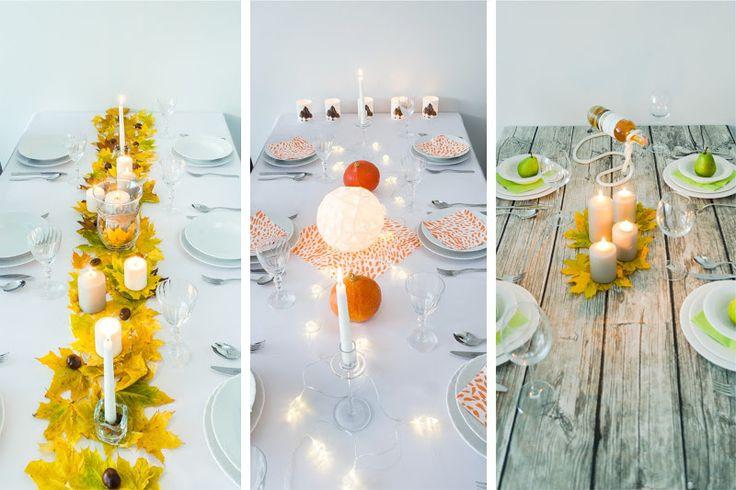 Jesienny stół na 3 sposoby