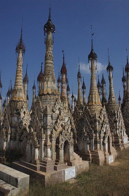 The ancient Kakku Pagodas, Shan State, Myanmar.