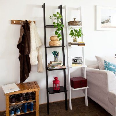 Possible Bedside Table Alternative Once Lamp Stands Are Done (or. Attach  Lamps To These Instead?) SoBuy® Modern Ladder Bookcase Made Of Wood ,book  Shelf, ...