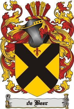 De Beer Family Crest / De Beer Coat of Arms