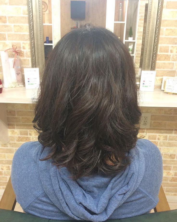 カットパーマのお客様デジタルパーマでしっかりとカール感をしっかりかけてあげるともちも良くなるし自宅で再現しやすいですいつもありがとうございます中村 #creer_for_hair#鹿児島美容室#鹿児島市#美容室#鴨池#パーマ#カット#haircut#hairstyle#hair#instagood#instastyle#beauty#fashion#cut#curlyhair