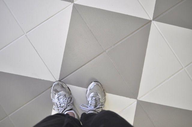PAINTING TILE FLOORS | DIY Inspiration: Painting Tile Floors