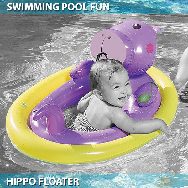 Pool Inflatable Swimming Ring – Purple Hippo