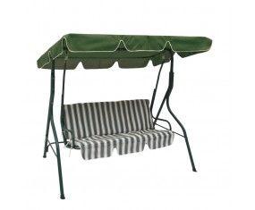 www.sconticasa.it  Dondolo/Altalena con struttura in acciaio cuscino e tetto in texilene resistente a strappi, agenti atmosferici e raggi UV  Colore Verde