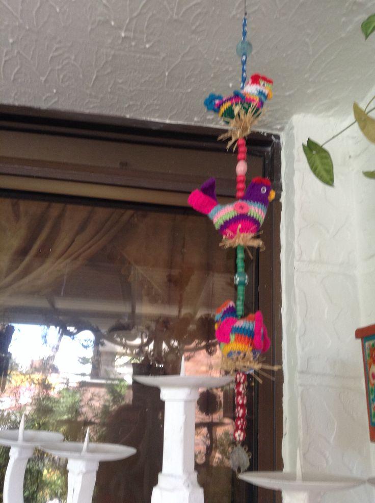 Móvil en crochet elaborada por Guela Mainieri