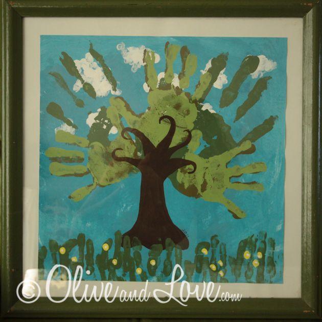 Olive and Love » Hand Print Tree Art