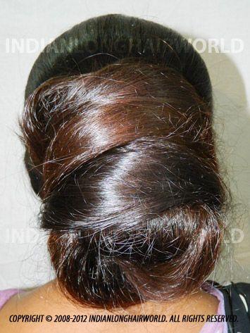 Long Hair Model of the Month December 2012. Santu with  her long, healthy & thick knee length hair in huge bun
