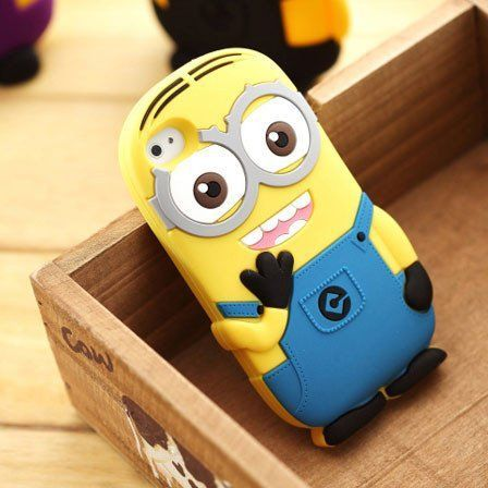 Cute Cartoon Minions Silicone Iphone Case for Iphone 4/4s/5
