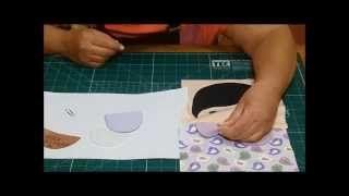 Protetor de Cinto de Segurança Bordado e Aplique por Arte de Paninho | Cantinho do Video Costura em Roupas