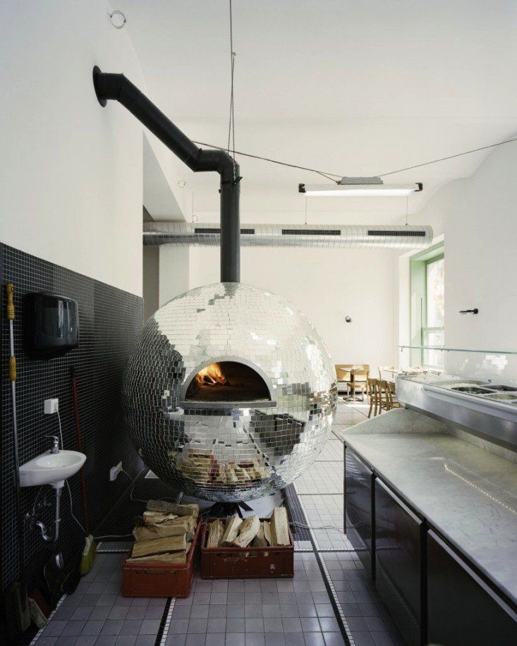 4 Words I Never Thought I'd Say Together: Disco Ball Pizza Oven!
