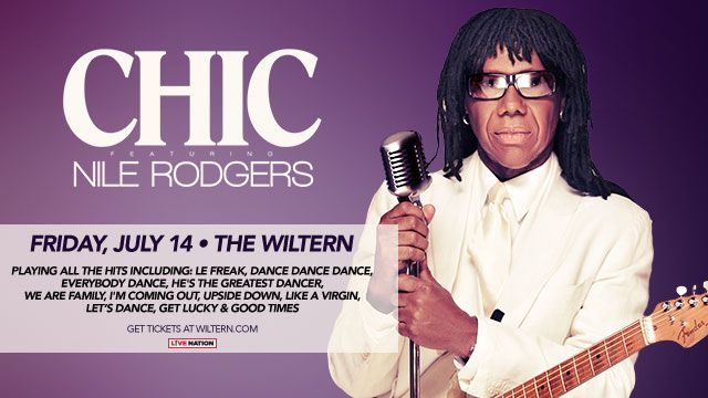 Chic featuring Nile Rodgers at The Wiltern this Friday! Playing all the hits including Le Freak, Dance Dance Dance, Everybody Dance and many more!