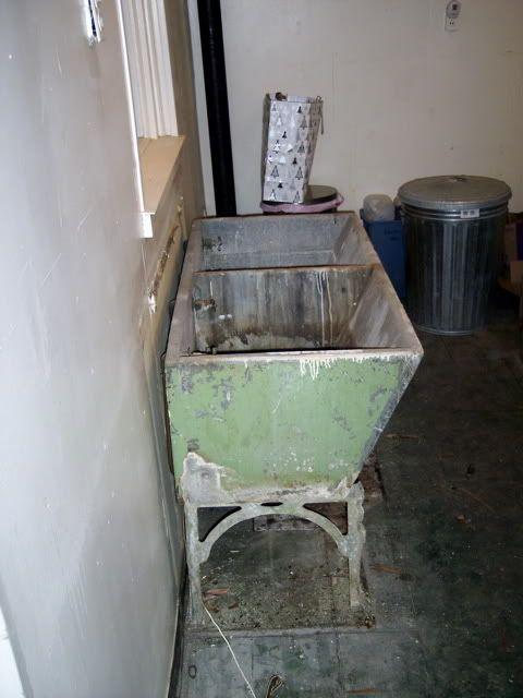 old concrete laundry sink Laundry Rooms Past Pinterest
