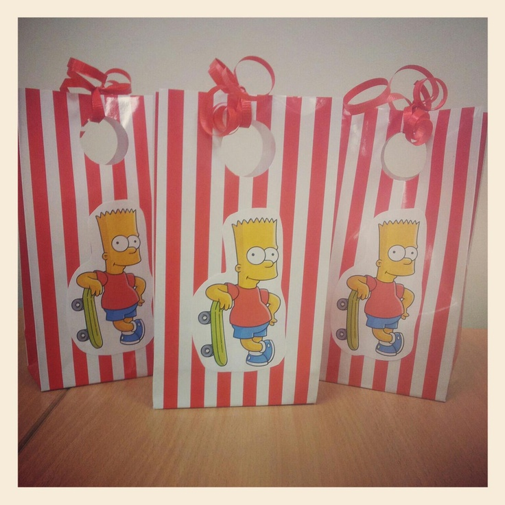 Cool bart simpson party bags