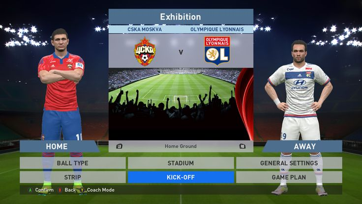 CSKA Moskva vs Olympique Lyon, VEB Arena, PES 2016, PRO EVOLUTION SOCCER 2016, Konami, PC GAMEPLAY, PCGAMEPLAY