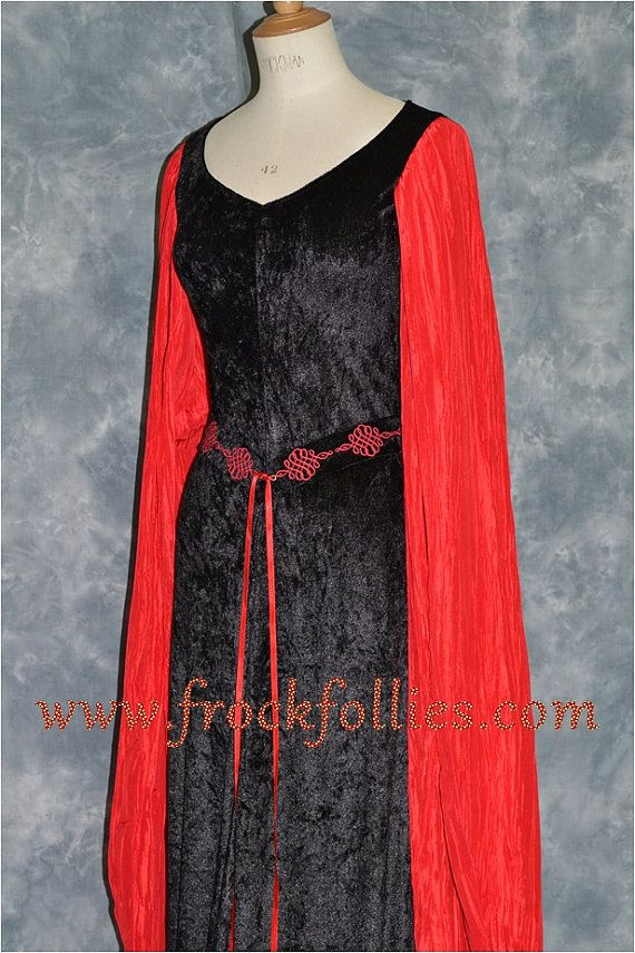 """Celtic Dress,Medieval Gown, Gothic Dress, Pagan Dress, Pre-Raphaelite Gown, Elvish Dress,  Medieval Dress """"Neave"""""""