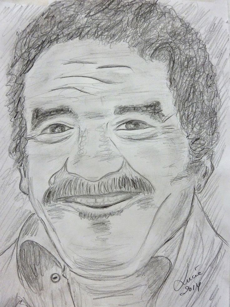Una idea, mucho arte Gabriel García Márquez Lápiz y carboncillo sobre papel Autora: Lucía García López