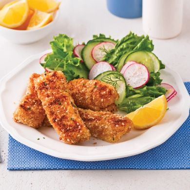 Bâtonnets de poisson au citron et fines herbes - Recettes - Cuisine et nutrition - Pratico Pratique