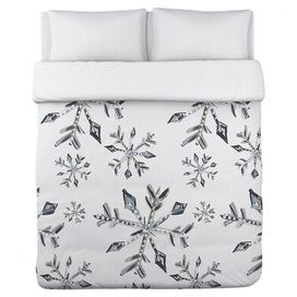 silver snowflake duvet cover