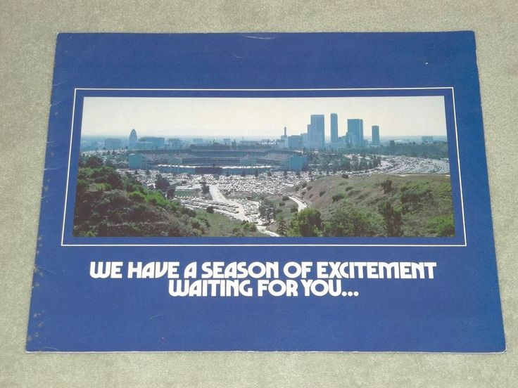 Vintage 1979 Los Angeles Dodgers Season Ticket Booklet California CA #LosAngelesDodgers