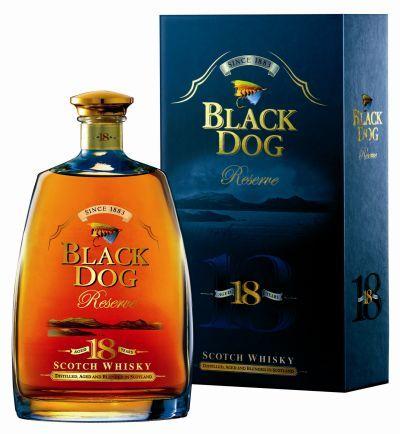 BLACK DOG 18 YEARS SCOTCH WHISKEY