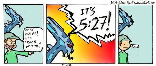 Dialga used roar of time!