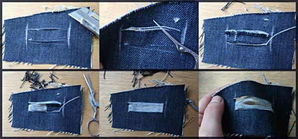 Как сделать из дырявых джинс модные джинсы картинки