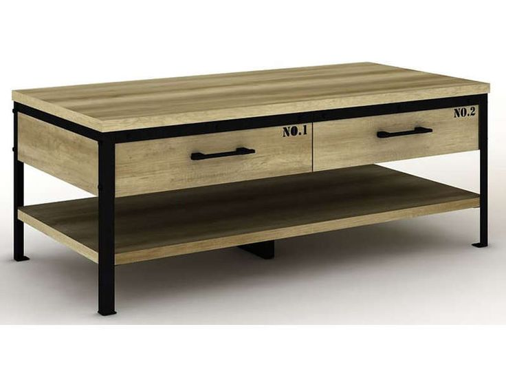 Table basse FACTORY bicolore - Vente de Table basse - Conforama