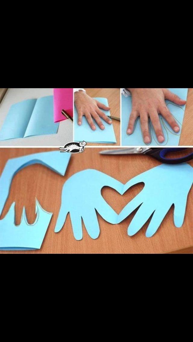 Håndaftryk med kærlighed