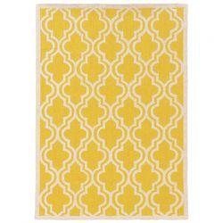 Momeni Geo Yellow Hooked Rug   Wayfair