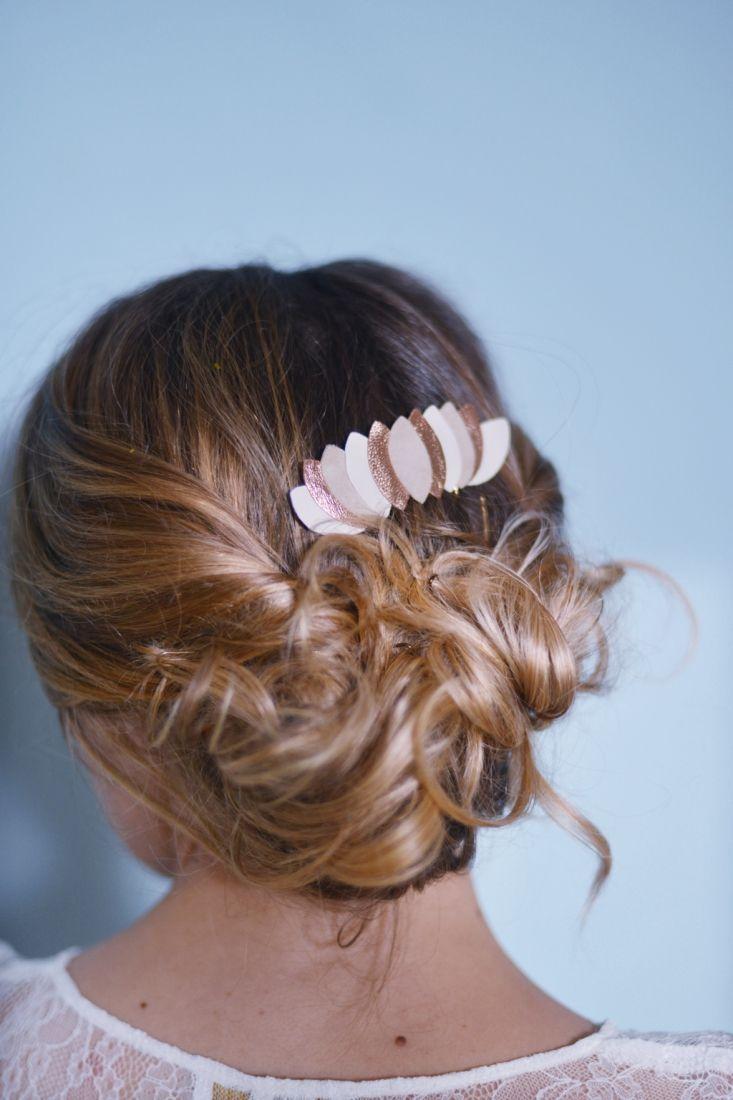 Bijou de cheveux mariage Clemence Cabanes l La Fiancee du Panda blog mariage
