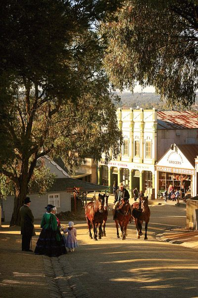 Sovereign Hill in Victoria, just a couple of hours drive from Melbourne. This is one of the best historical recreations ever and it has won Museum & Tourism Awards since it first opened to the public!