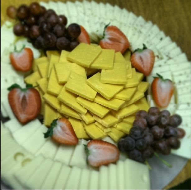 Cheese and fruit tray. Catered by Chartwells at Idaho ...