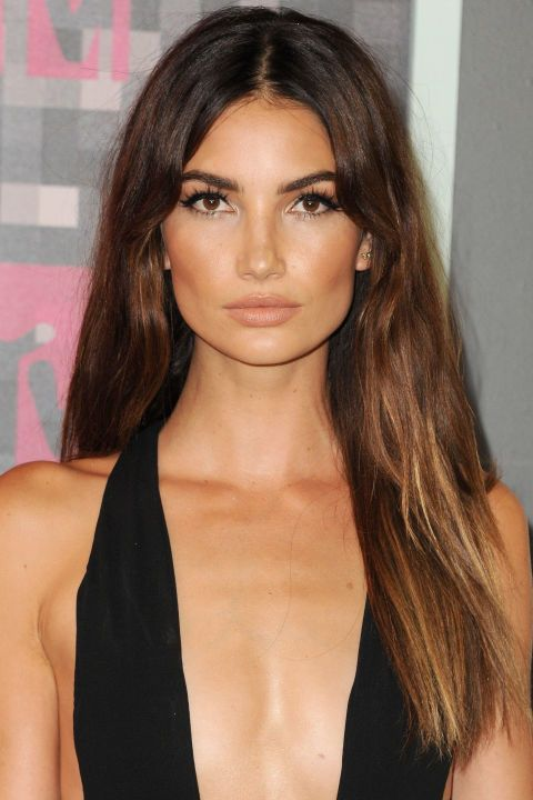 In love with Lily Aldridge's bronzed cheeks and fluttery eyelashes
