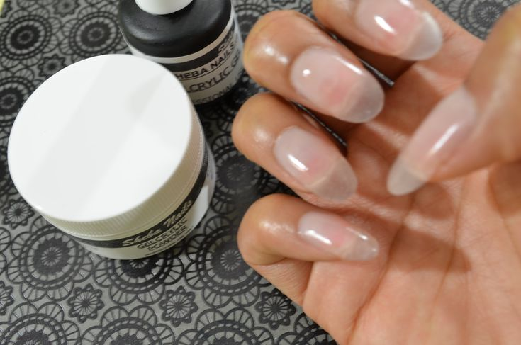How To Gel Nails At Home (Super Easy) Featuring Sheba Nails GelCrylicSystem. This looks so much easier and quicker than having to manually form a nail shape. :)