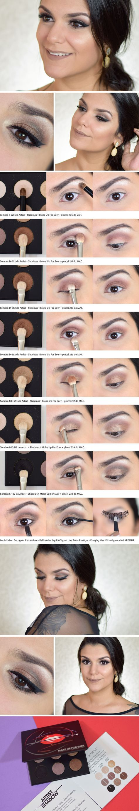 Tutorial: Fazendo a Phyna com Palette Artist – Shadows 1 da Make Up For Ever