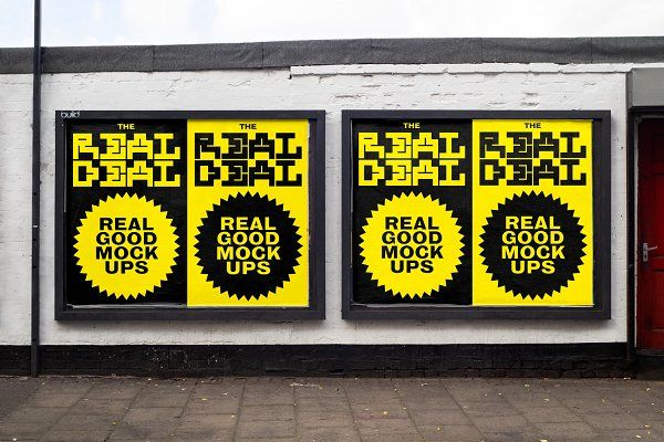 Outdoor posters mockup