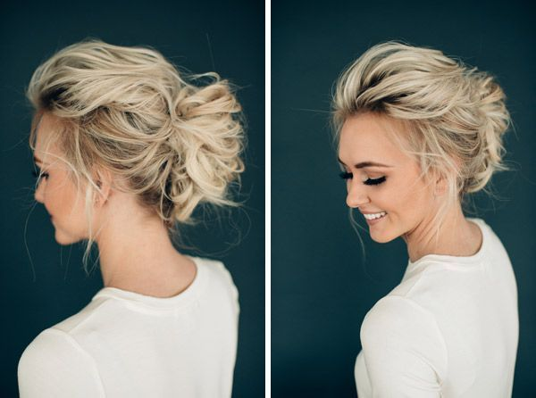 Wondering how to create the perfect messy bun like this?  It's a rather simple updo style that is fun and fashionable.  Even if you're short on know how it's an easy way to style your hair if you know the tricks.  For tricks like these TerrificTresses.com has plenty of steal worth hacks.