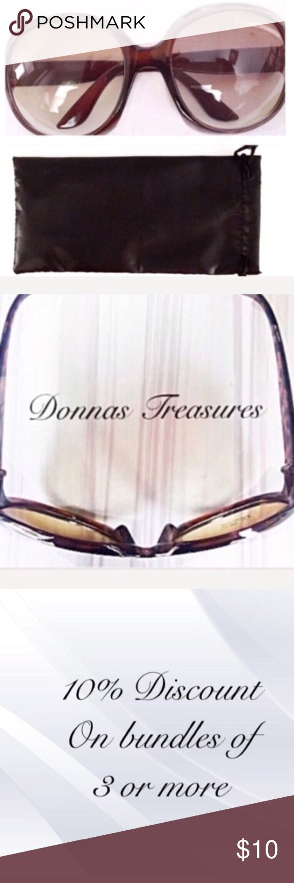"❤️ Ladies Fashion Sunglasses These frames are made of high-quality plastic. The arms are 5"" long. The lenses are 3"" from top to bottom & 3"" from side to side. They have a UV protection level of 400. Accessories Sunglasses"