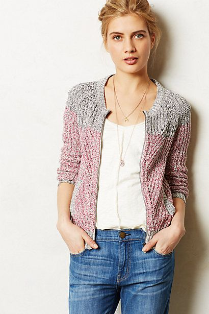 Juno Bomber Sweater #anthropologie