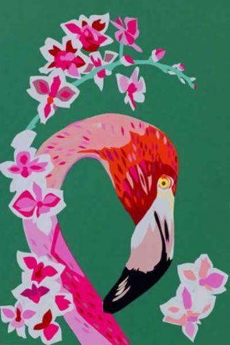 Chloe Croft Limited Edition Signed Prints/Canvas - Flamingo & Flowers