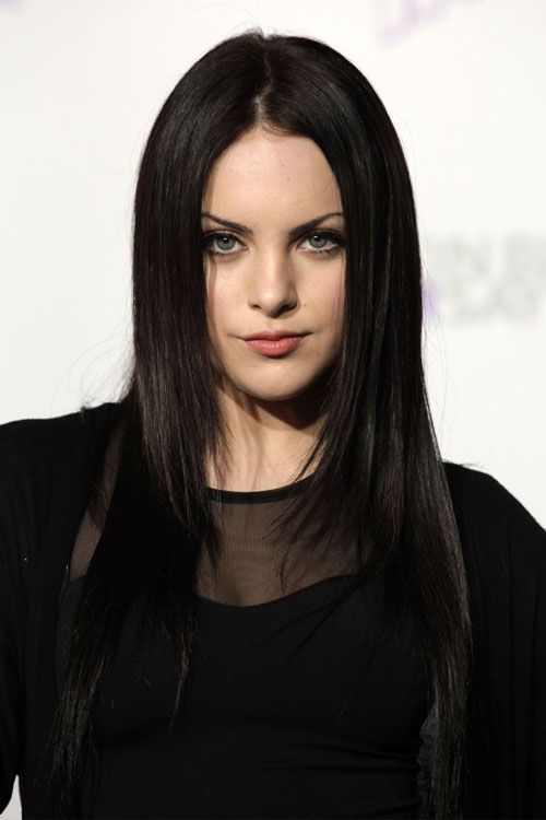Elizabeth Gillies long hairstyles With Black Hair Color 01 #prom black hairstyles