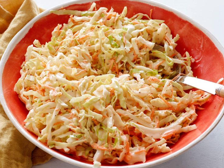 Coleslaw : It's all about the balance of sweet and tangy flavors in Robert's quick-fix slaw. He opts for a cool combination of mayonnaise, white wine vinegar and sugar to guarantee bold results.