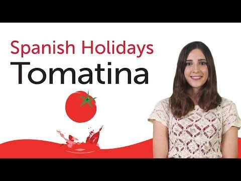 ▶ Learn Spanish Holidays - La Tomatina - subtituado en inglés